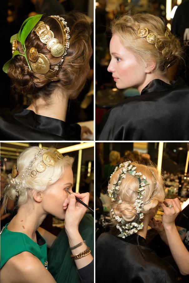 Dolce & Gabbana Spring 2014 cabelo